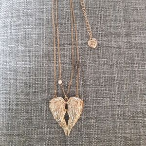 Betsey Johnson Gold Angel Wings Necklace